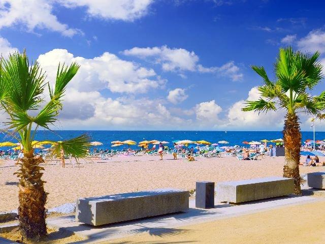 Spanje  - Costa Brava - Strand Pineda de Mar