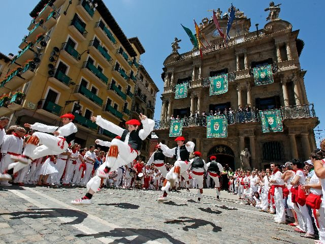 Spanje - Pamploa -  straatbeeld