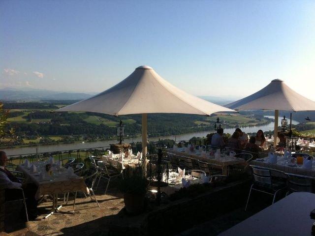 Maria Taferl - Hotel Rose **** - terras met uitzicht op de Donau