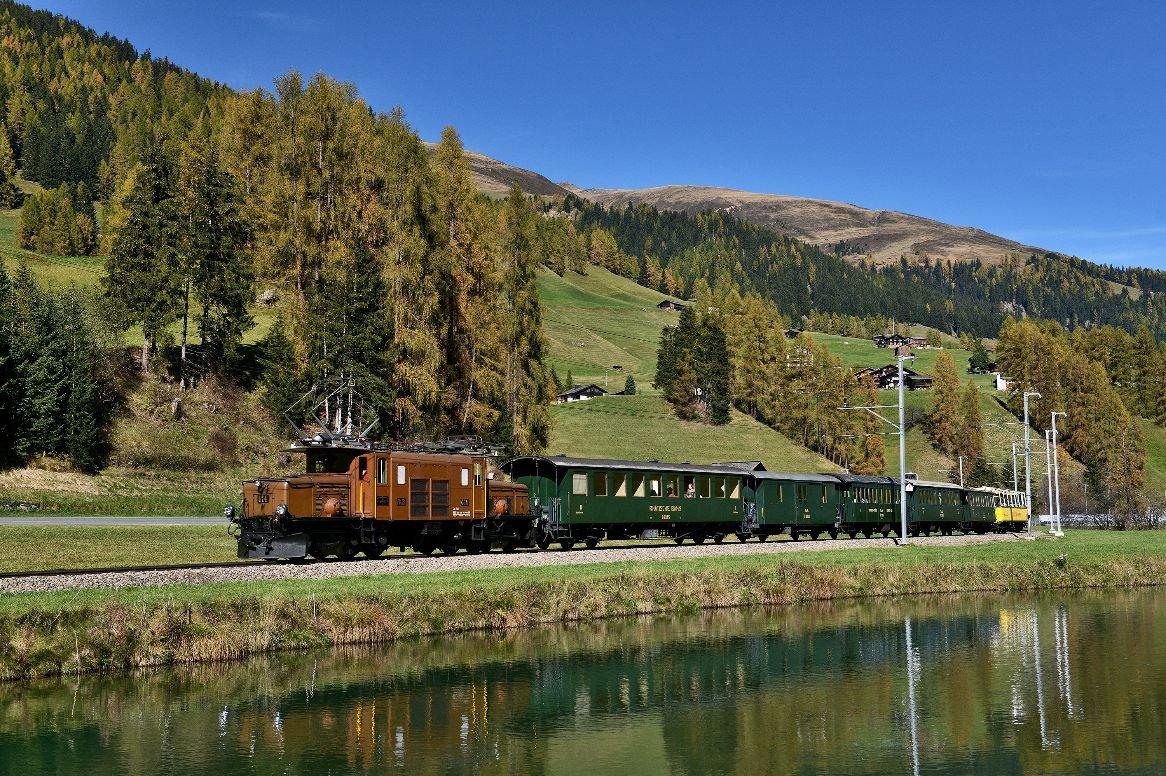 Busreis Op grote hoogte in Graubünden