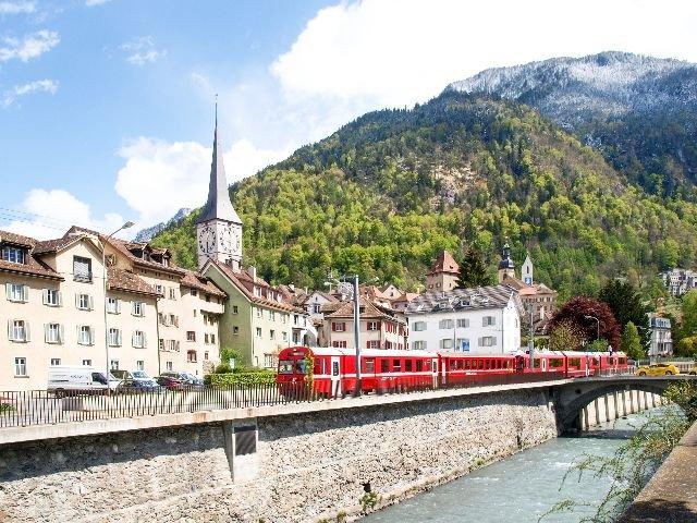 Zwitserland - Chur - trein