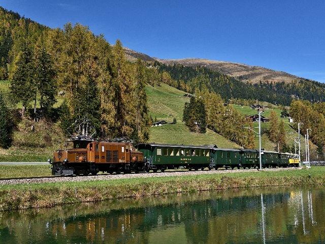 Zwitserland - Davos - nostalgie trein