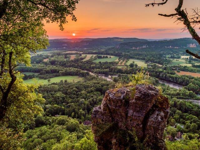 Dordogne vallei landschap