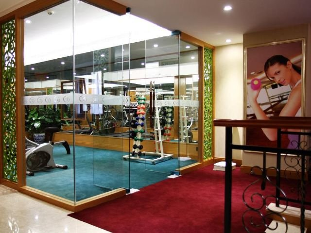 Aurum International Hotel - fitnessruimte