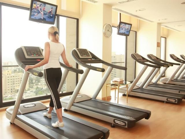 Grand Palace Hotel - fitnessruimte