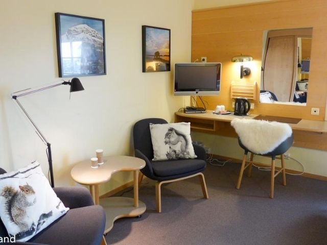 Noorwegen - Tau - Lilland Brewery Hotel - voorbeeldkamer