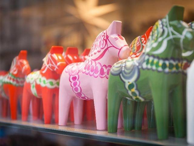 Zweden - Provincie Dalarna - houten Dalarna paardje