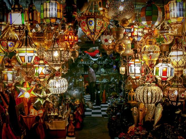 Marokko - Marrakesh - traditionele lampen