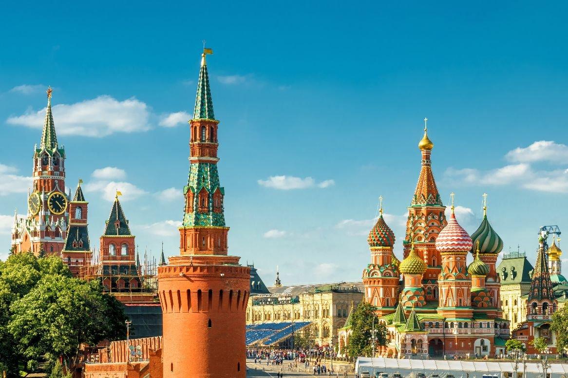 Moskou - Kremlin en Kathedraal van de Voorbede van de Moeder Gods