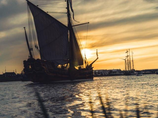 historisch zeilschip IJsselmeer