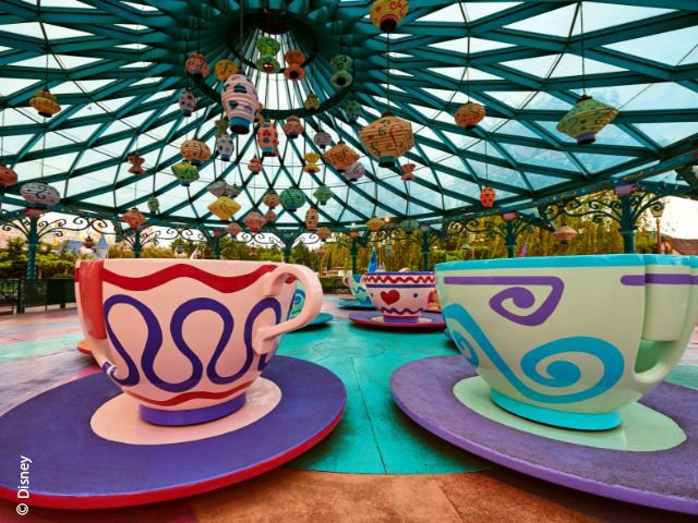 Disneyland Paris - Disneyland Park - Mad Hatter's Tea Cups