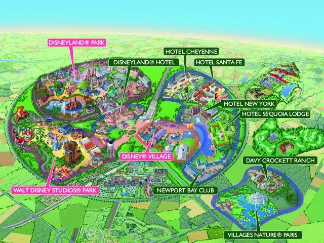 Disneyland Paris - kaart Disney Hotels