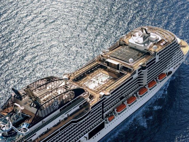 MSC Meraviglia - aanzicht schip