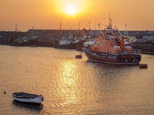Noord-Ierland- Portrush haven