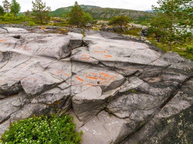 Noorwegen - Alta - rosttekeningen