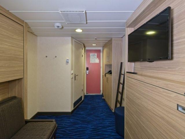 Hurtigruten MS Nordlys voorbeeldhut