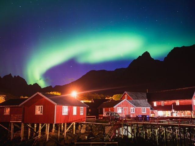 Noorwegen - Lofoten - Noorderlicht bij Leknes
