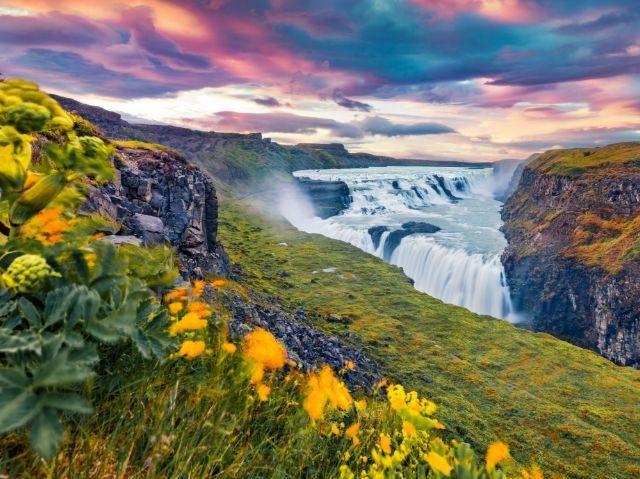 IJsland - Gouden Cirkel - Gullfoss Waterval