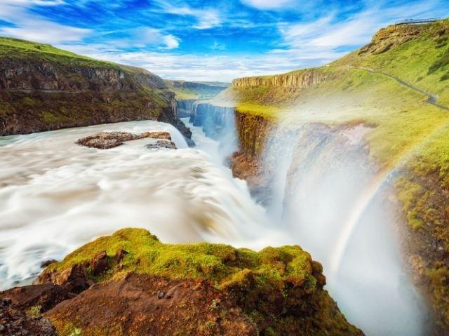 IJsland – Gouden Cirkel - Gullfoss Waterval