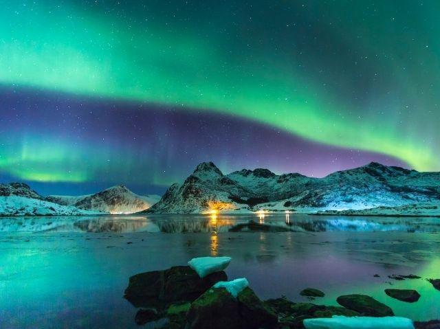 Noorwegen - Noorderlicht bij de Lofoten