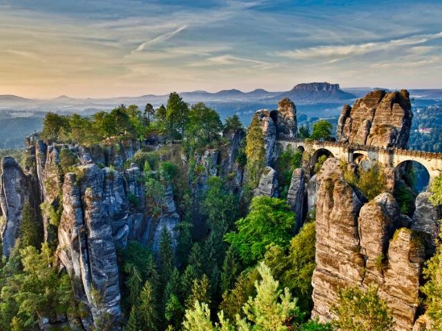 Duitsland - Bastei rotsen