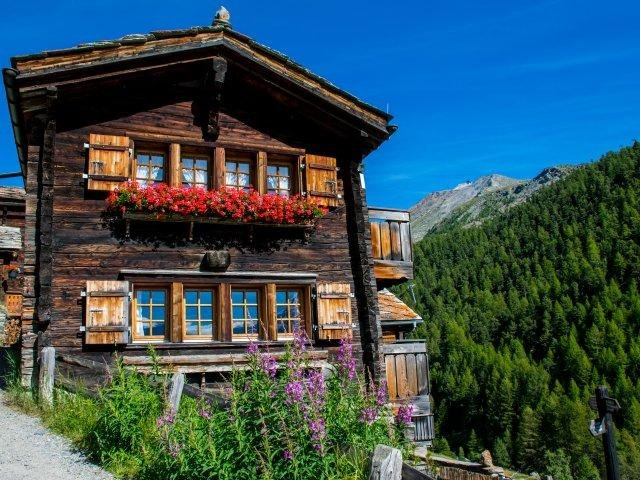 Zwitserland - typisch zwitserse huisjes