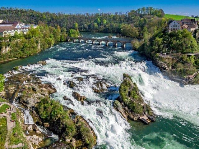 Zwitserland - Waterval Schaffhausen