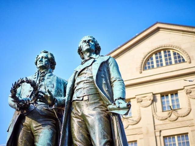 Duitsland - Weimar - Goethe en Schiller