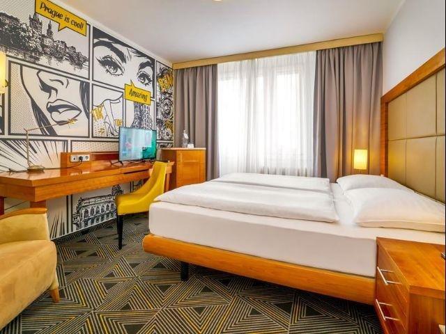 CZ-Praag_Hotel Uno***_voorbeeld kamer