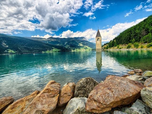 Oostenrijk - Nauders - Reschensee