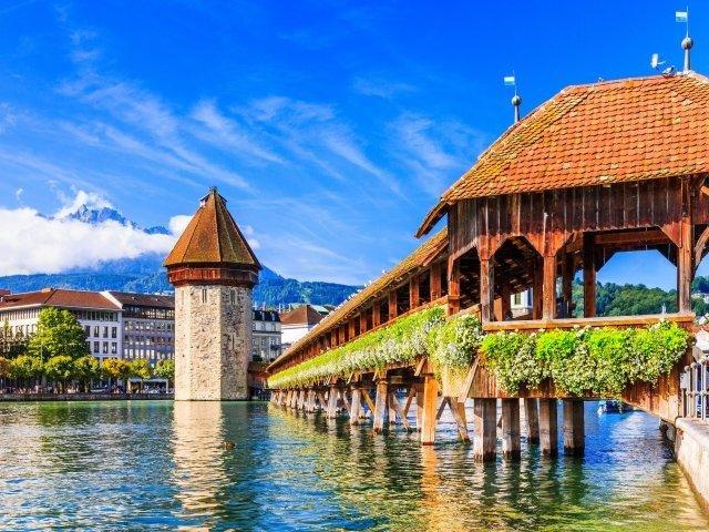 Zwitserland - Luzern - Kapelbrücke