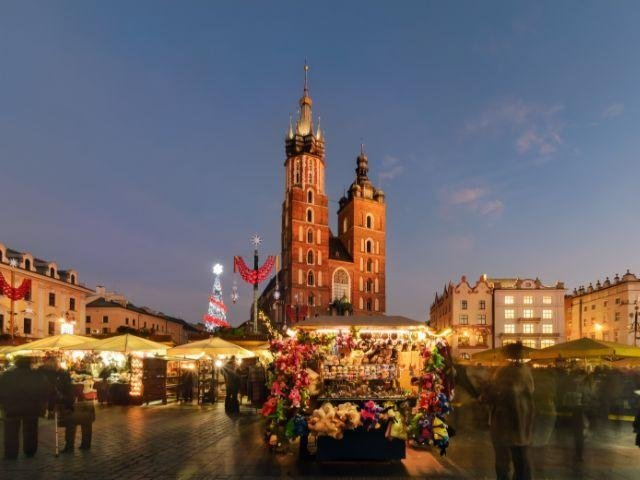 Polen - Krakau Kerstmarkt