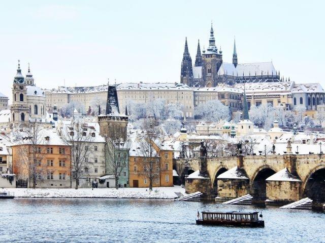 Praag - Praagse burcht in de winter