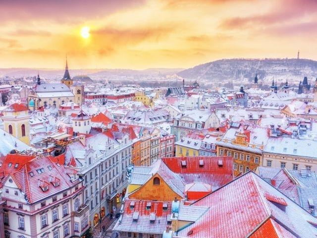 Praag - Praag in de winter
