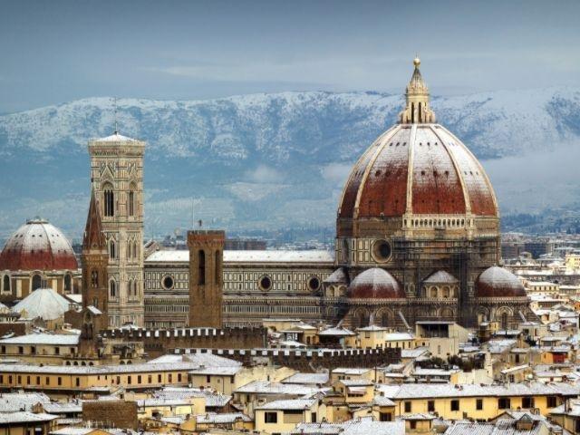 Italië - Florence - Sneeuw