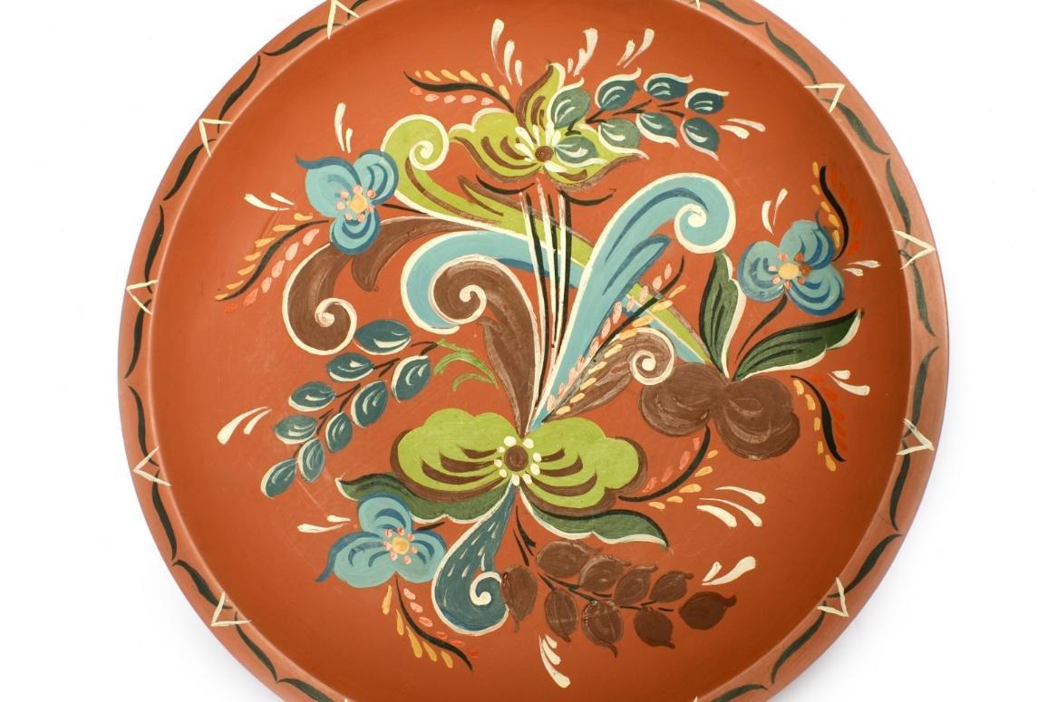 traditioneel geschilderd bord