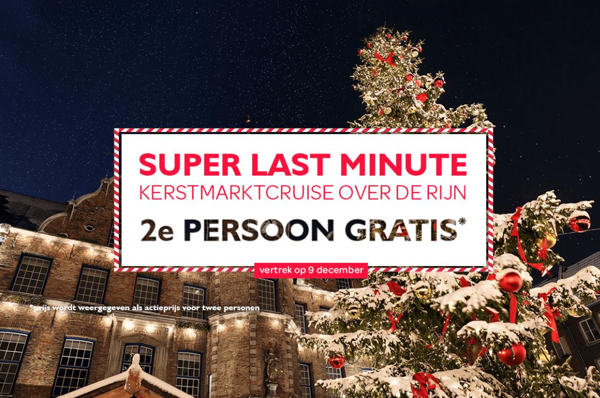 Kerstmarktcruise over de Rijn 2e persoon gratis