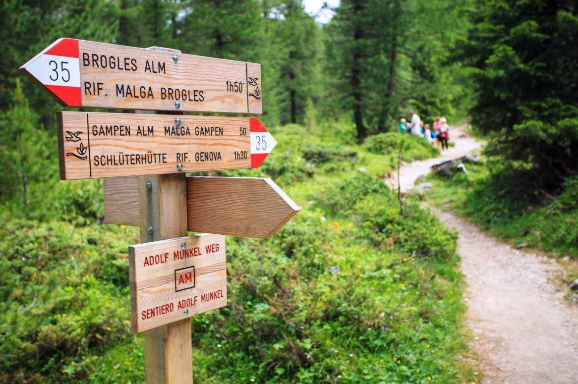 Italië - Zuid Tirol - Adolf Munkel pad