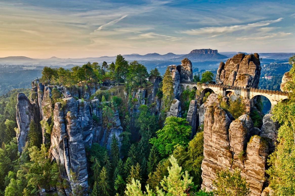 Duitsland - Bastei - Rotsen