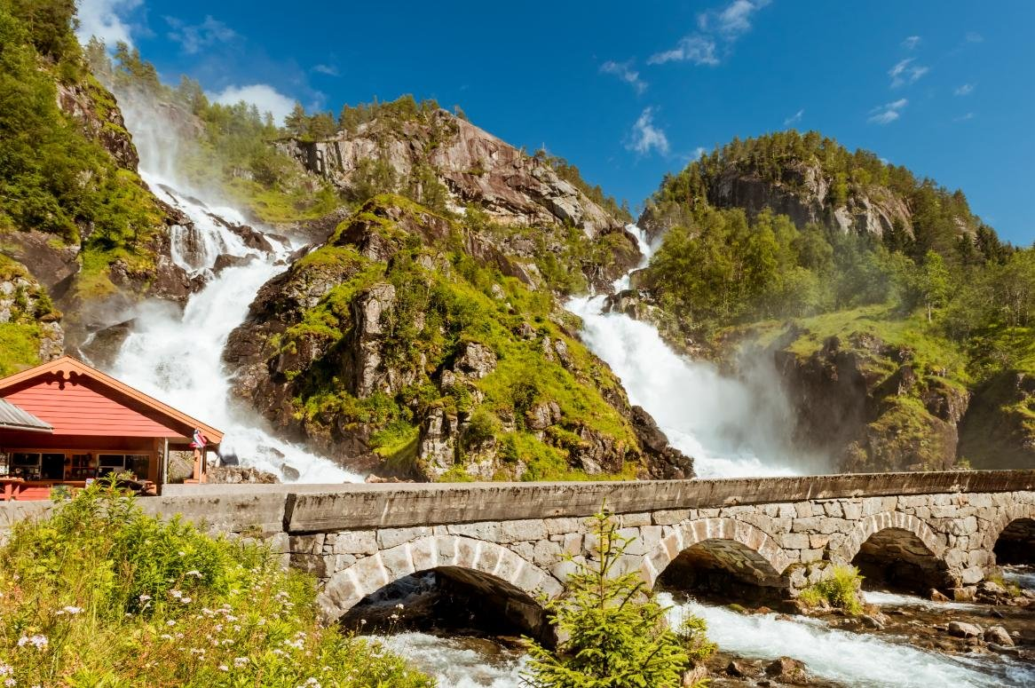 latefossen watervallen