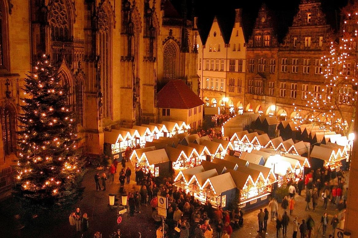 Kerstmarkt Münster - Route Oost/Twente  (Almelo-Apeldoorn-Deventer-Enschede-Heng
