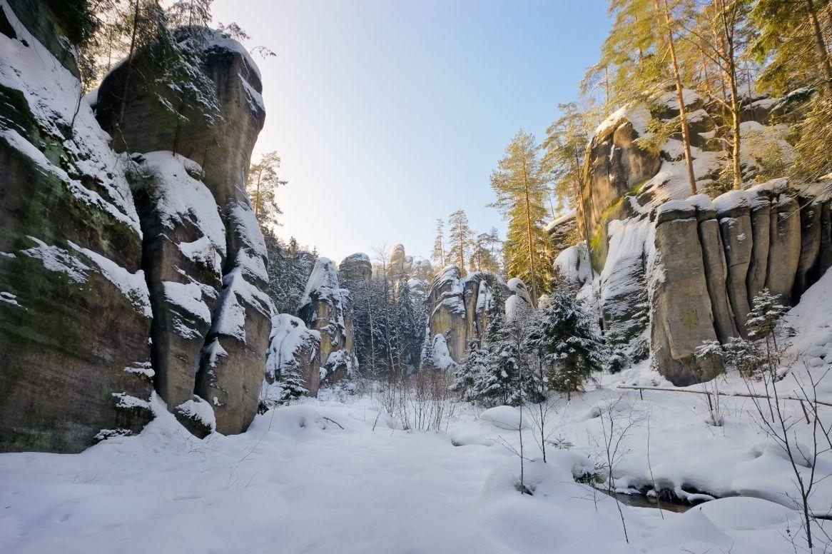 Adrspach in de winter